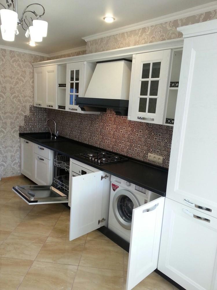Белый кухонный гарнитур-Кухня МДФ в ПВХ «Модель 139»-фото2