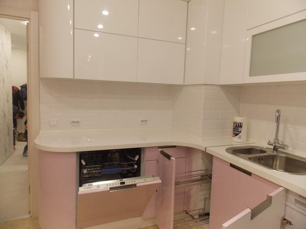Белый кухонный гарнитур-Кухня МДФ в ПВХ «Модель 193»-фото4