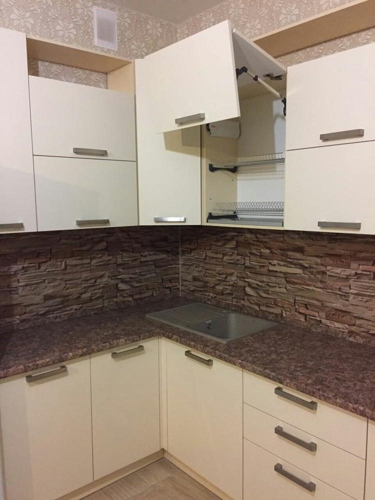 Белый кухонный гарнитур-Кухня МДФ в ПВХ «Модель 165»-фото4