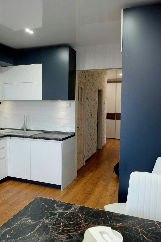 Белый кухонный гарнитур-Кухня МДФ в ПВХ «Модель 81»-фото2