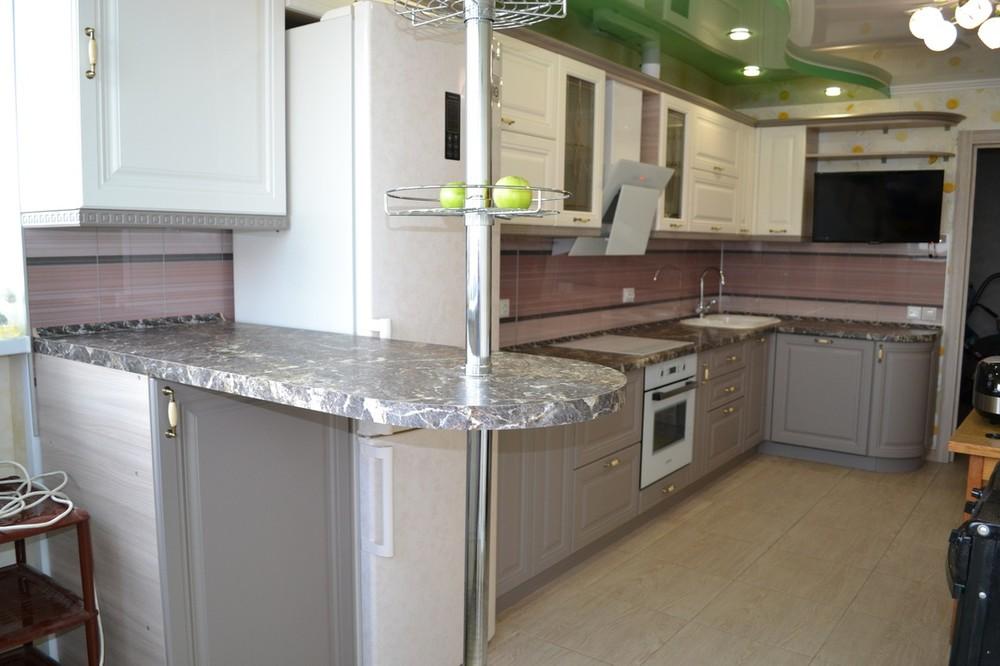 Встроенная кухня-Кухня МДФ в ПВХ «Модель 178»-фото1