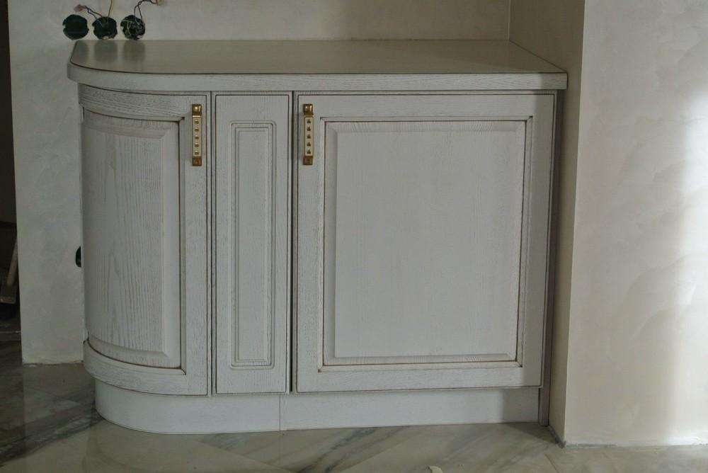 Белый кухонный гарнитур-Кухня из массива «Модель 179»-фото5