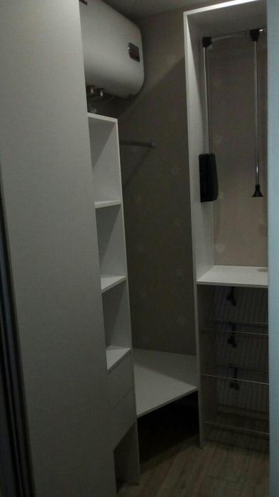 Встроенные шкафы-купе-Шкаф-купе с зеркалом «Модель 32»-фото3