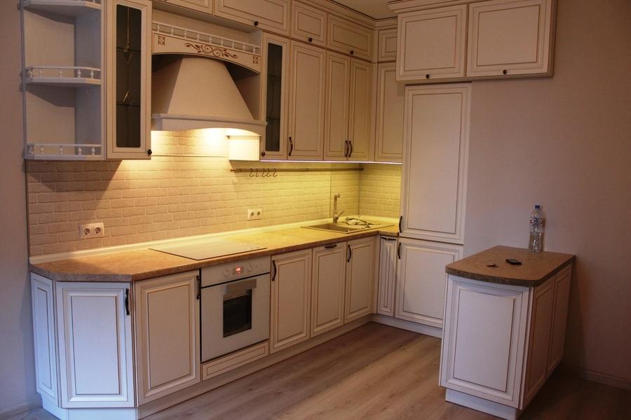 Белый кухонный гарнитур-Кухня МДФ в ПВХ «Модель 39»-фото3