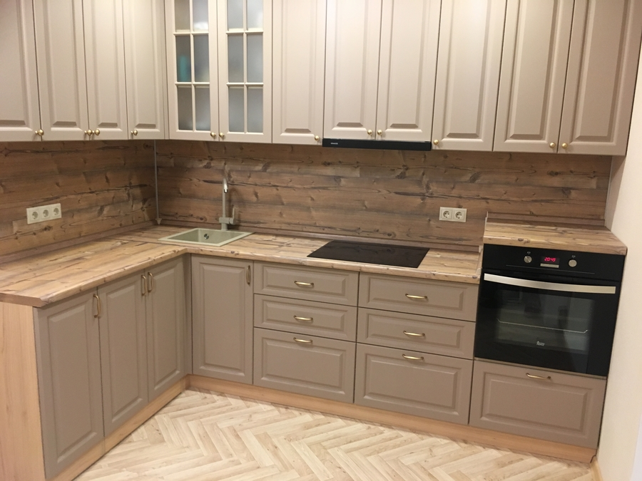 Классические кухни-Кухня МДФ в ПВХ «Модель 62»-фото2