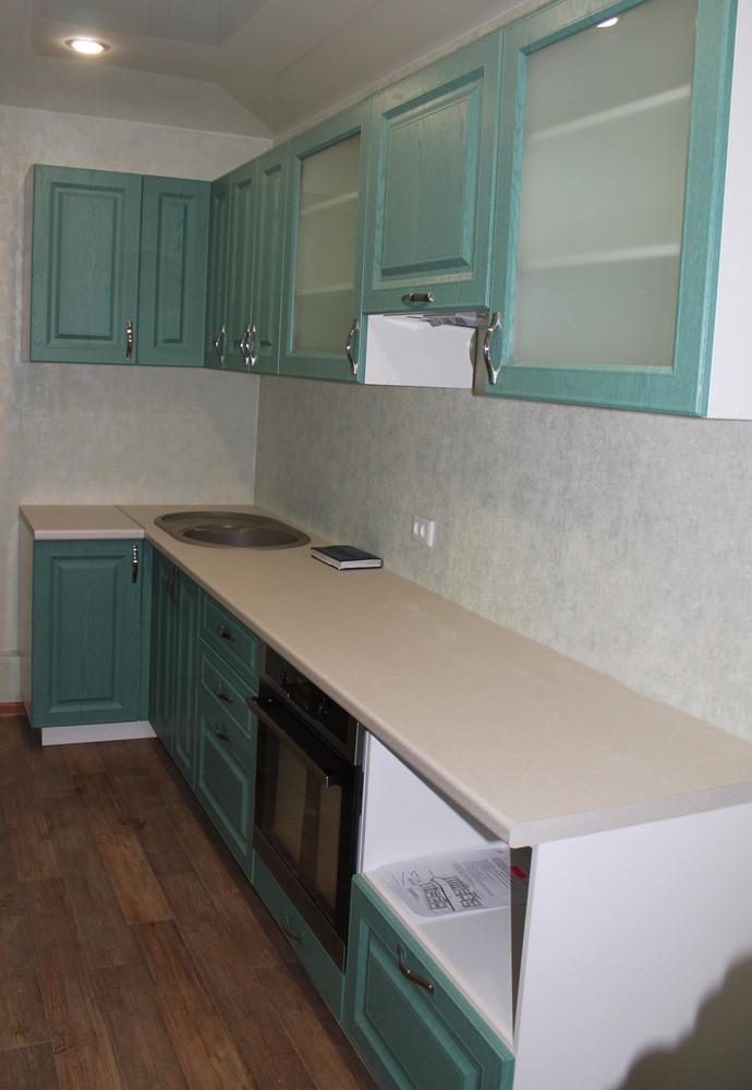 Классические кухни-Кухня МДФ в ПВХ «Модель 338»-фото1
