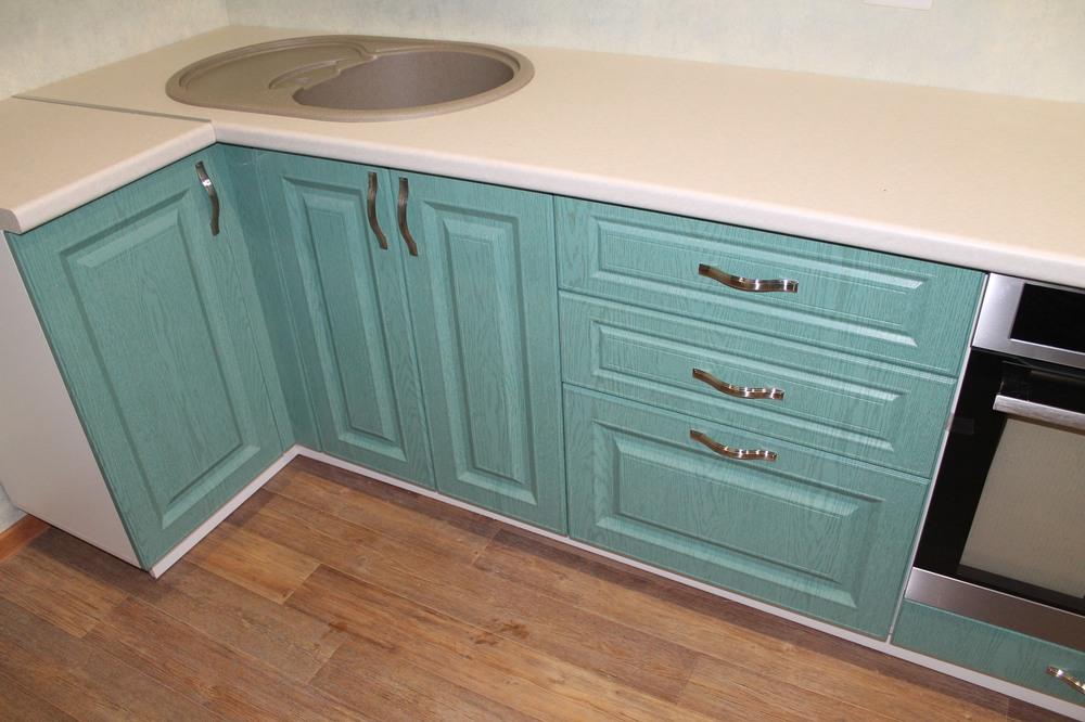 Классические кухни-Кухня МДФ в ПВХ «Модель 338»-фото3