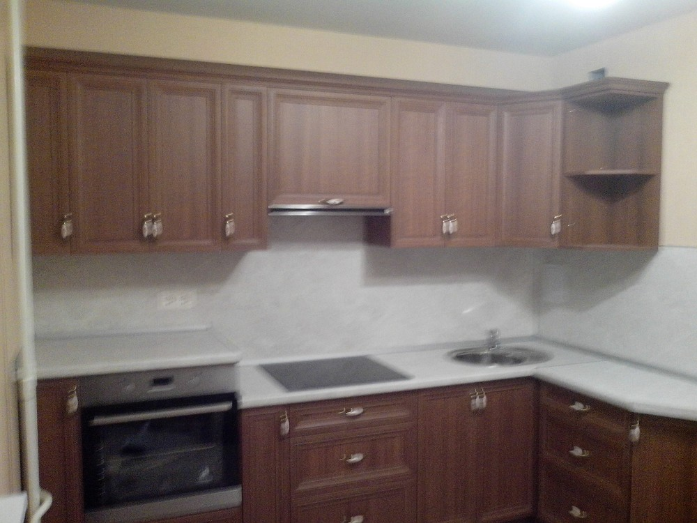 Акриловые кухни-Кухня из пластика «Модель 331»-фото3