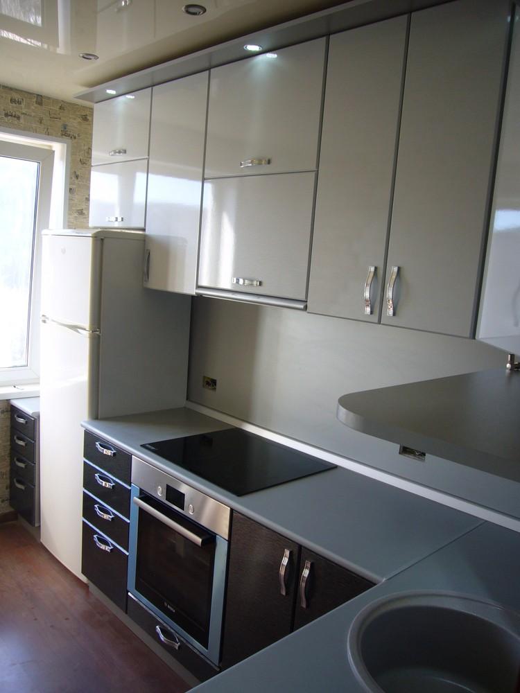 Встроенная кухня-Кухня МДФ в ПВХ «Модель 352»-фото2
