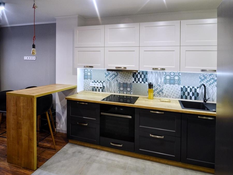 Белый кухонный гарнитур-Кухня МДФ в пленке ПВХ «Модель 112»-фото4