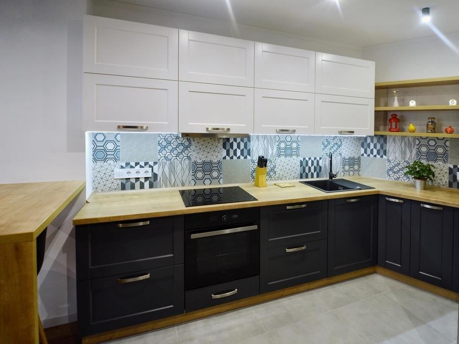 Белый кухонный гарнитур-Кухня МДФ в пленке ПВХ «Модель 112»-фото3
