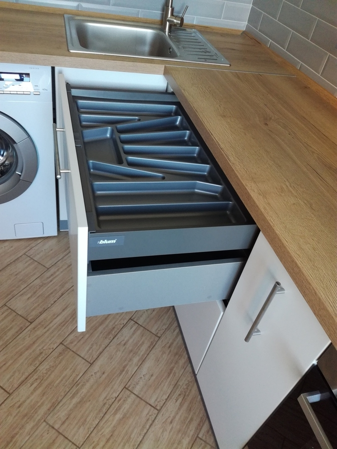 Белый кухонный гарнитур-Кухня МДФ в ПВХ «Модель 122»-фото9