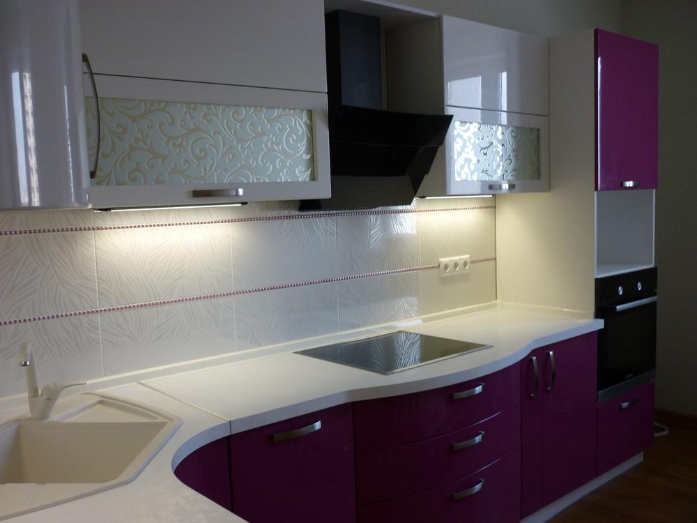 Встроенная кухня-Кухня МДФ в эмали «Модель 237»-фото2