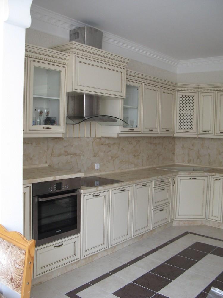 Белый кухонный гарнитур-Кухня из массива «Модель 244»-фото2