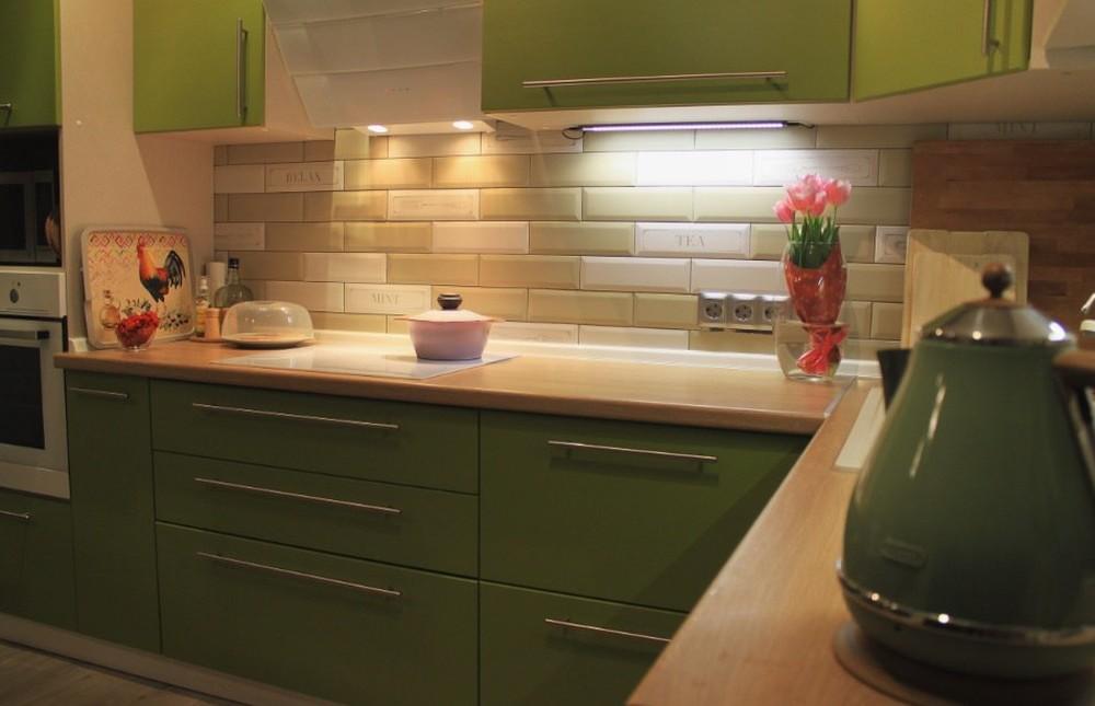 Встроенная кухня-Кухня МДФ в ПВХ «Модель 221»-фото3