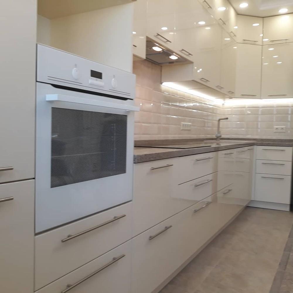 Белый кухонный гарнитур-Кухня МДФ в ПВХ «Модель 279»-фото7