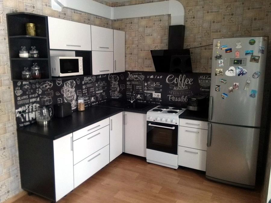 Белый кухонный гарнитур-Кухня из ДСП «Модель 325»-фото1