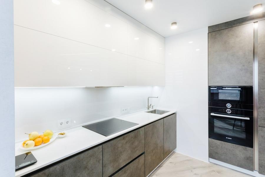 Белый кухонный гарнитур-Кухня из ЛДСП «Модель 416»-фото3
