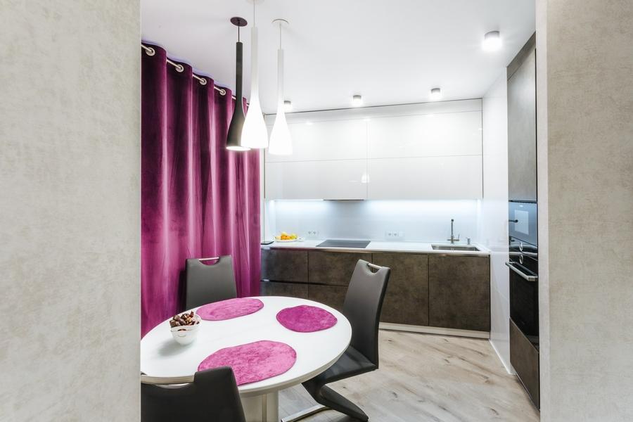 Белый кухонный гарнитур-Кухня из ЛДСП «Модель 416»-фото1