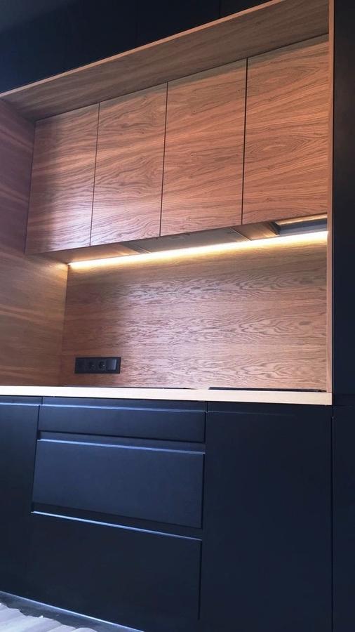 Встроенная кухня-Кухня МДФ в эмали «Модель 464»-фото3