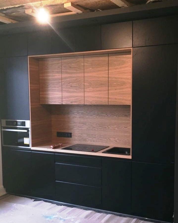 Встроенная кухня-Кухня МДФ в эмали «Модель 464»-фото1