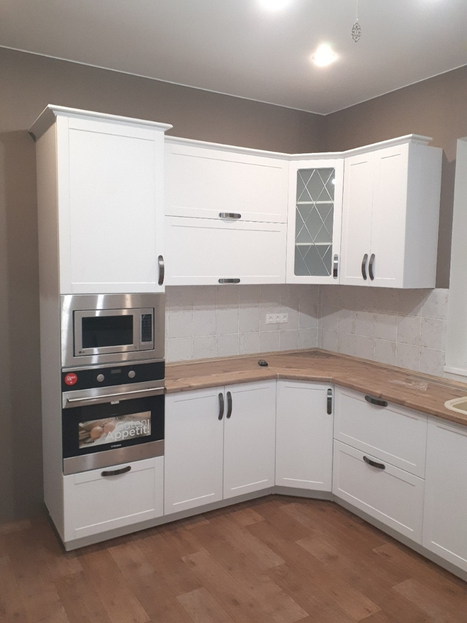 Белый кухонный гарнитур-Кухня «Модель 493»-фото2