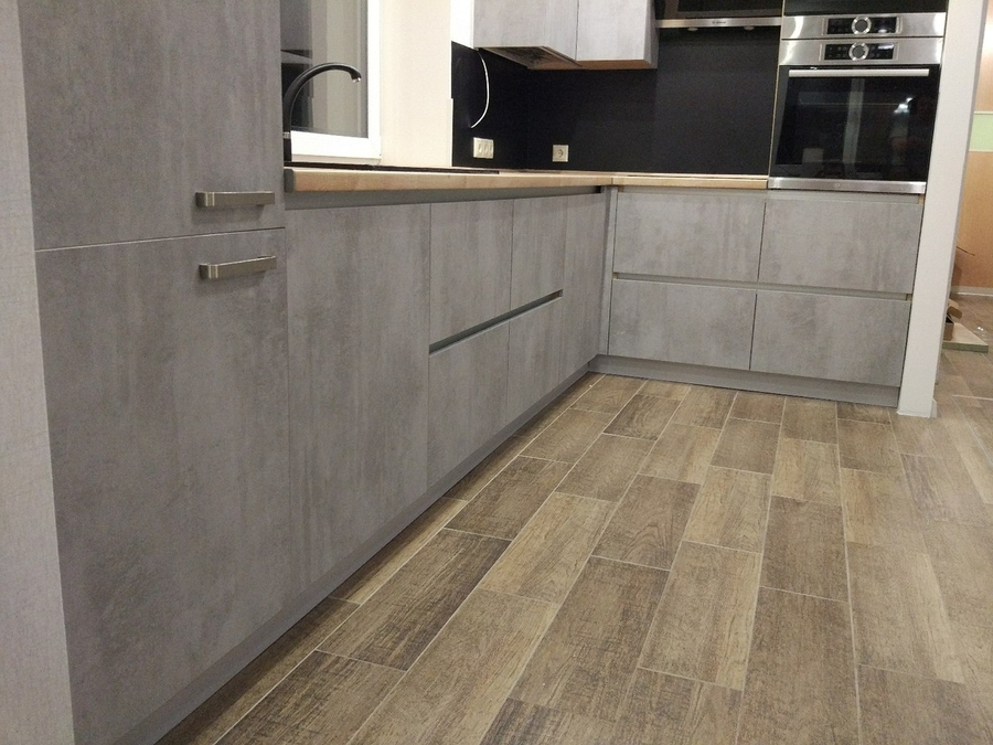 Встроенная кухня-Кухня из пластика «Модель 450»-фото5