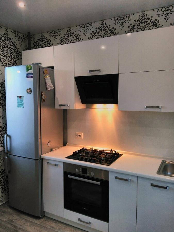 Белый кухонный гарнитур-Кухня из пластика «Модель 468»-фото3