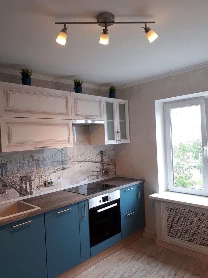 Белый кухонный гарнитур-Кухня из пластика «Модель 375»-фото2