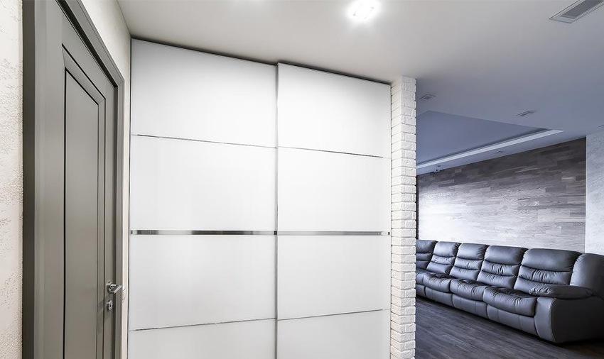 Белые шкафы-купе-Шкаф-купе из ЛДСП «Модель 233»-фото2