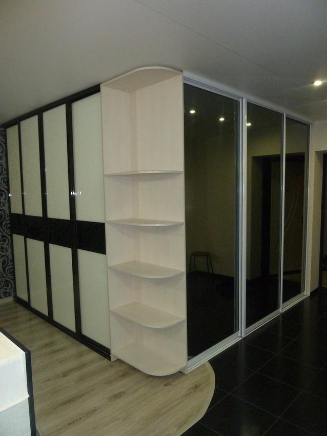Белые шкафы-купе-Шкаф-купе с зеркалом «Модель 257»-фото1