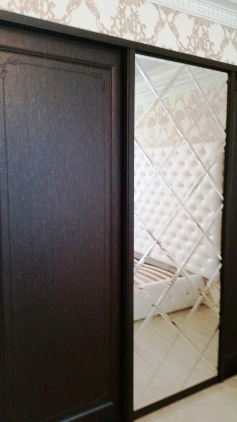 Бельевой шкаф-купе-Шкаф-купе МДФ «Модель 450»-фото2