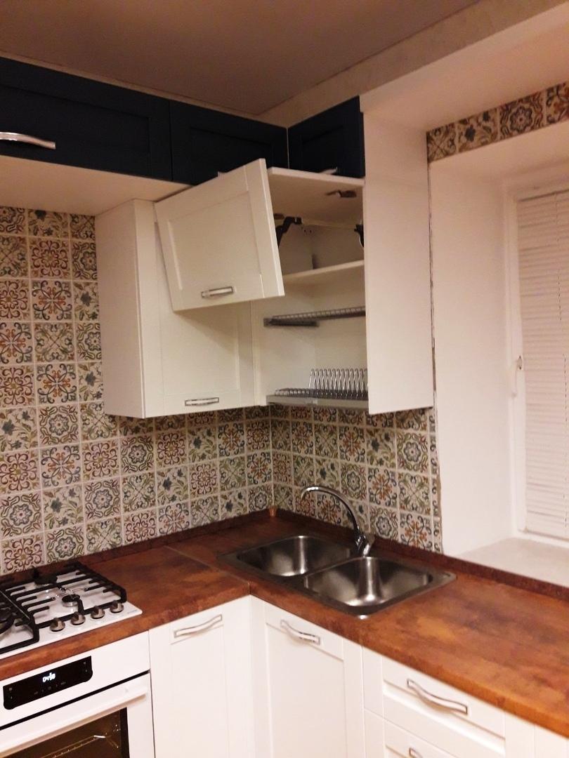 Белый кухонный гарнитур-Кухня МДФ в ПВХ «Модель 529»-фото8