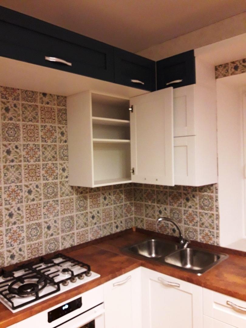 Белый кухонный гарнитур-Кухня МДФ в ПВХ «Модель 529»-фото9