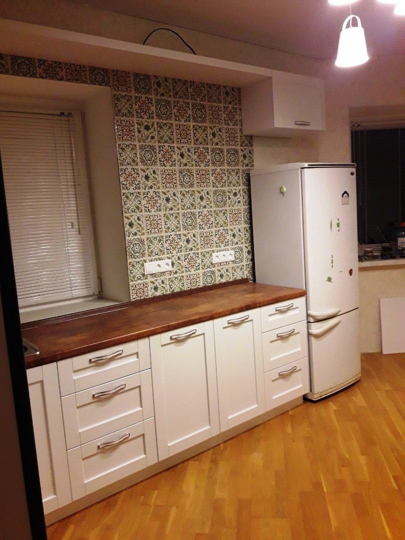 Белый кухонный гарнитур-Кухня МДФ в ПВХ «Модель 529»-фото3
