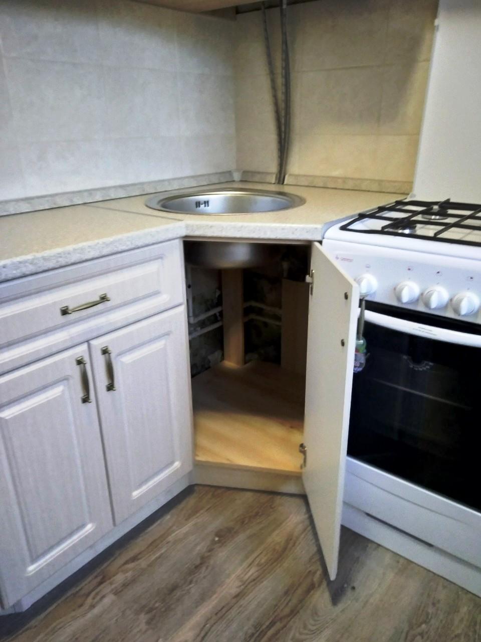 Белый кухонный гарнитур-Кухня МДФ в ПВХ «Модель 534»-фото7