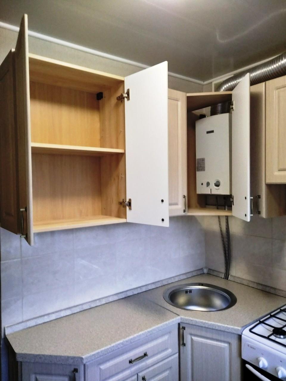 Белый кухонный гарнитур-Кухня МДФ в ПВХ «Модель 534»-фото6