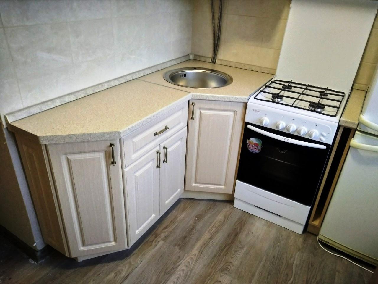 Белый кухонный гарнитур-Кухня МДФ в ПВХ «Модель 534»-фото2