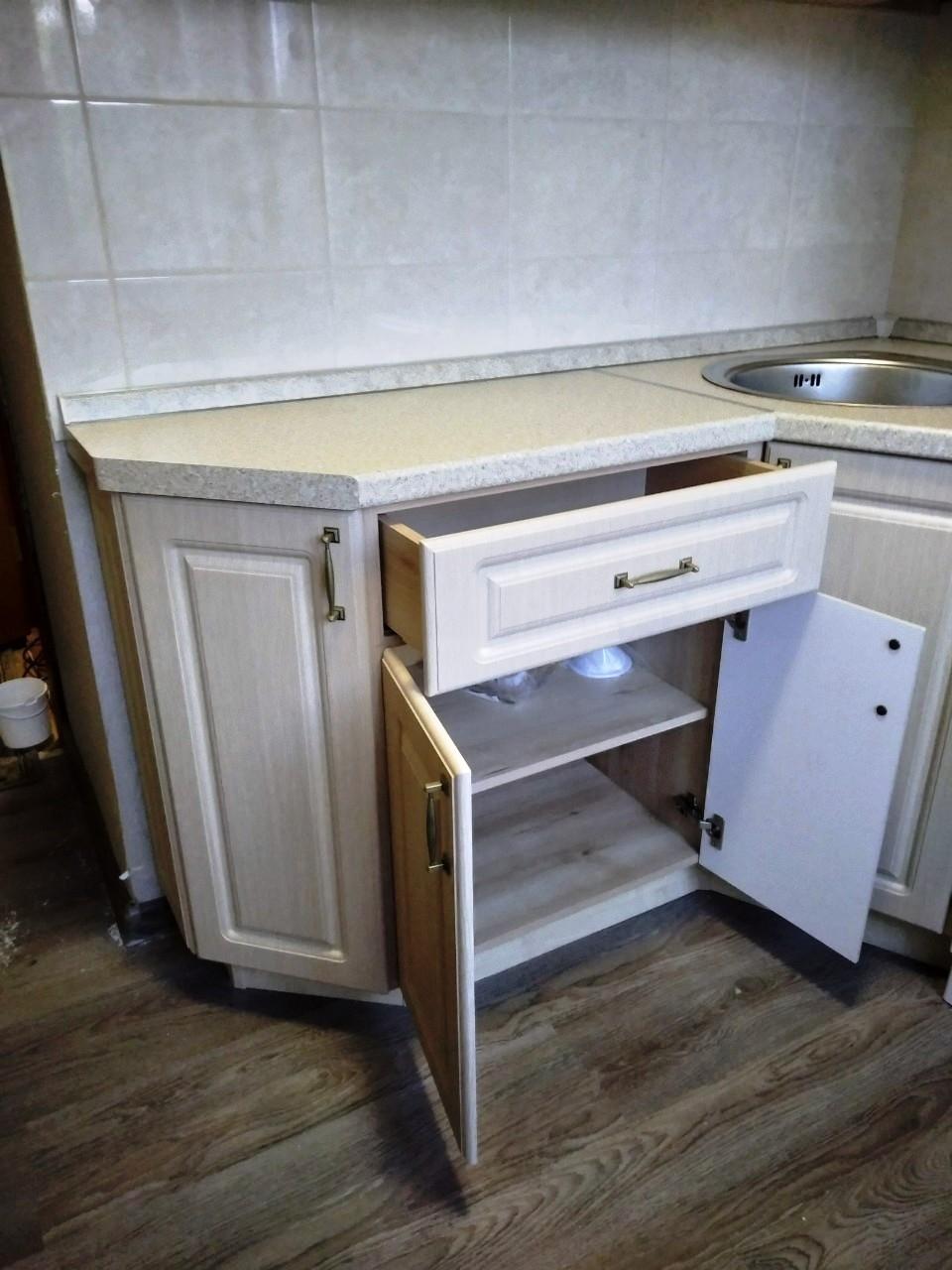 Белый кухонный гарнитур-Кухня МДФ в ПВХ «Модель 534»-фото5