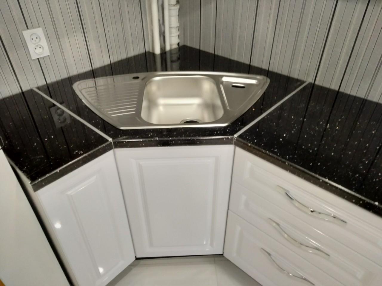 Белый кухонный гарнитур-Кухня МДФ в ПВХ «Модель 533»-фото5