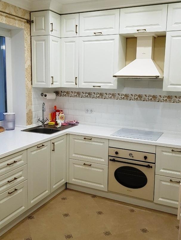 Белый кухонный гарнитур-Кухня МДФ в ПВХ «Модель 531»-фото2