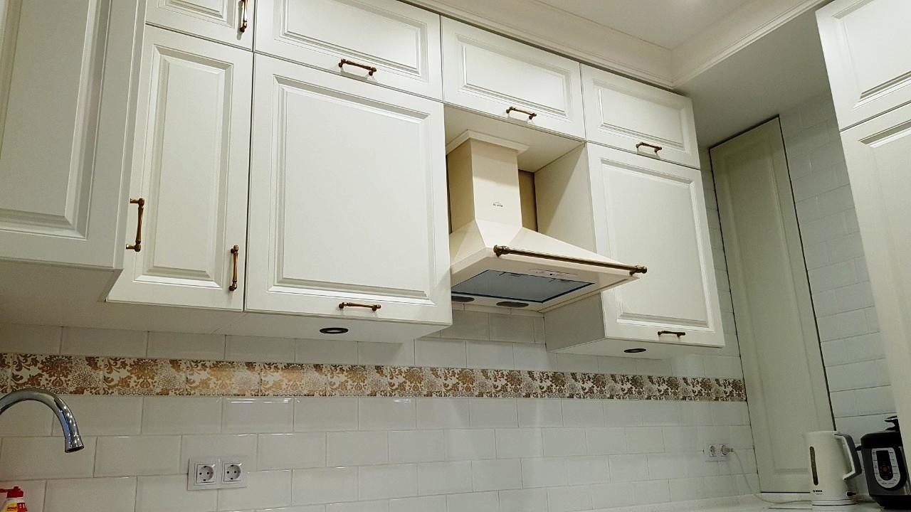 Белый кухонный гарнитур-Кухня МДФ в ПВХ «Модель 531»-фото8