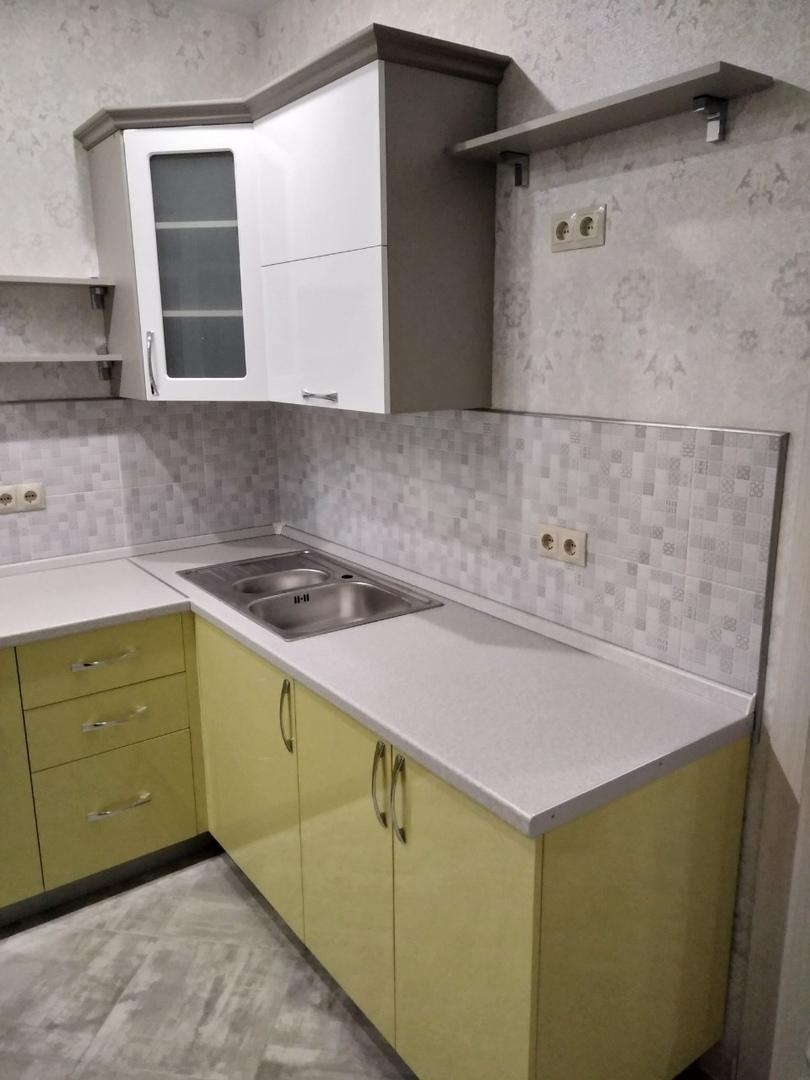 Белый кухонный гарнитур-Кухня МДФ в ПВХ «Модель 525»-фото4