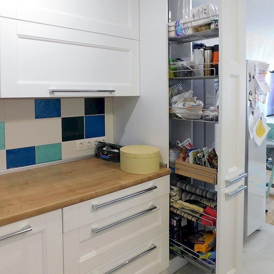 Белый кухонный гарнитур-Кухня МДФ в эмали «Модель 591»-фото5