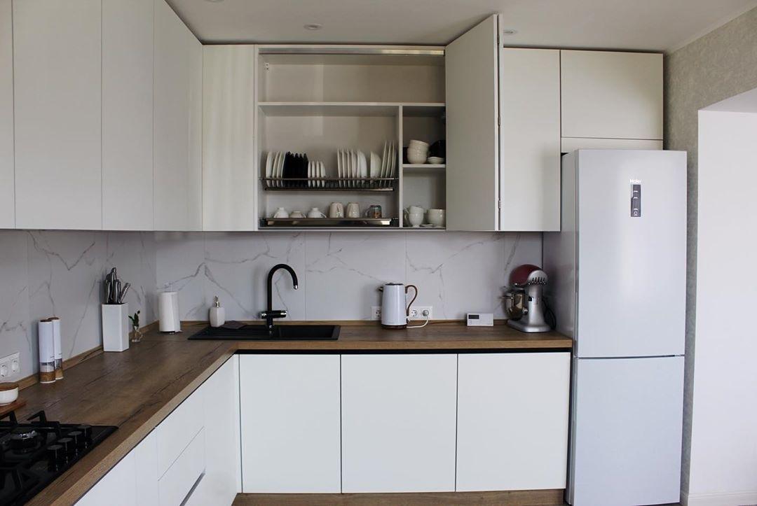 Белый кухонный гарнитур-Кухня МДФ в эмали «Модель 616»-фото3