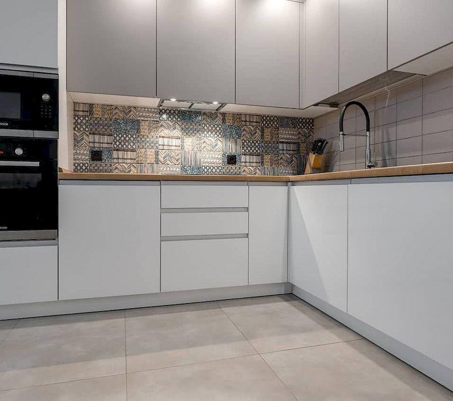 Белый кухонный гарнитур-Кухня МДФ в эмали «Модель 637»-фото3