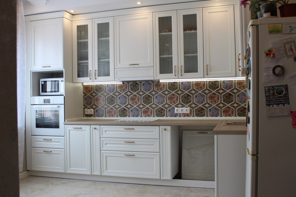 Акриловые кухни-Кухня из пластика «Модель 134»-фото6