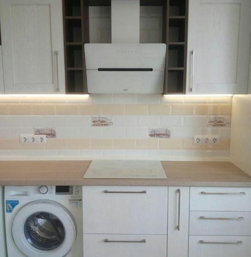 Белый кухонный гарнитур-Кухня МДФ в ПВХ «Модель 342»-фото5