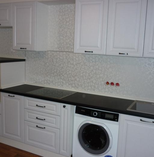 Белый кухонный гарнитур-Кухня МДФ в ПВХ «Модель 241»-фото5
