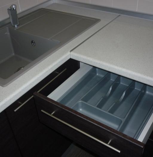 Встроенная кухня-Кухня МДФ в ПВХ «Модель 254»-фото5